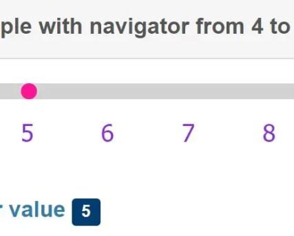 Mobile-friendly Range Slider Control Component For Angular 5