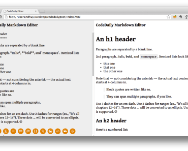 AngularJS Markdown Editor