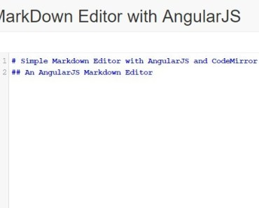 Simple Markdown Editor with AngularJS and CodeMirror