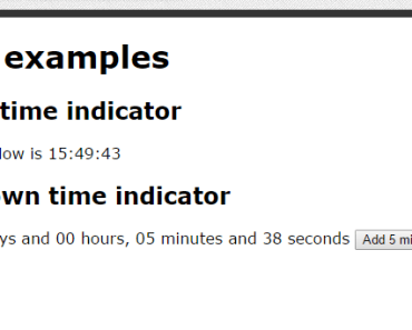AngularJS Countdown Time Indicator