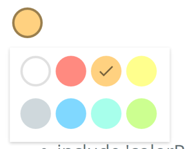 Google Keep Style Color Picker For Angular