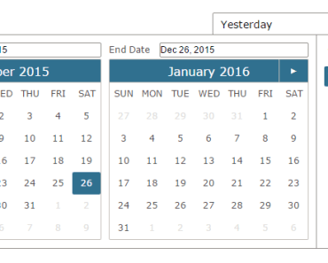 Pure Angular Date Range Picker
