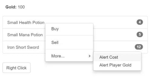 AngularJS Bootstrap UI Context Menu