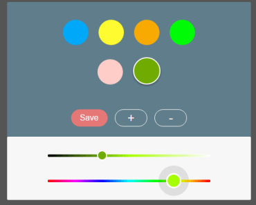 Minimal Touch-friendly Color Picker Diretitve