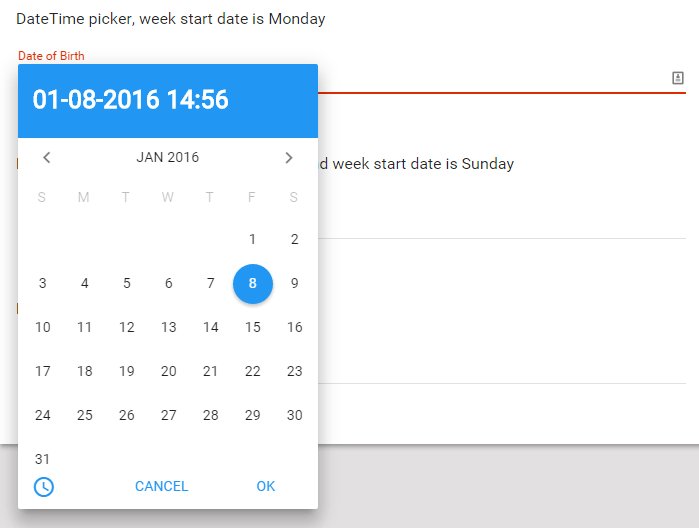 Angular material time picker