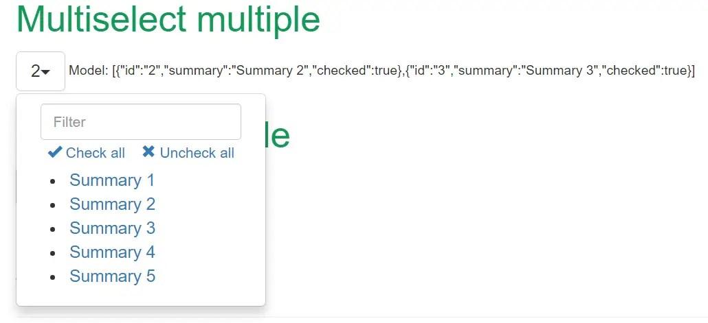 Angular2 Multiple Select Directive