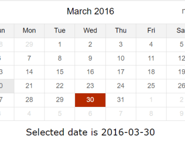 Simple Inline Date Picker For AngularJS - pickadate