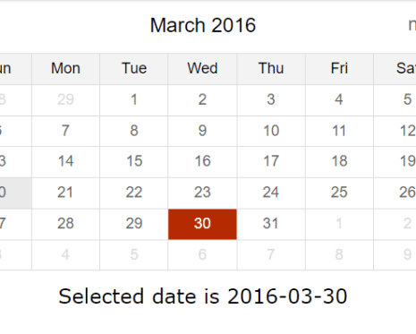 Lightweight Datepicker With Angular and Moment js | Angular