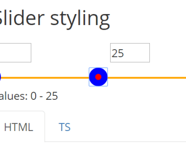 Basic Angular 2 Slider Component