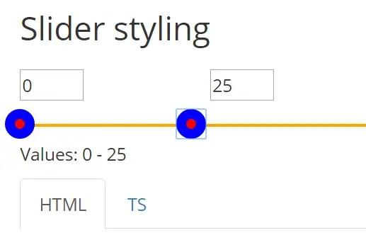 Basic Angular 2 Slider Component