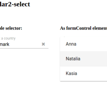 Select Box Input Module For Angular2