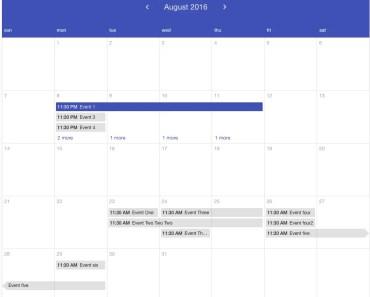 Angular Material Calendar Component