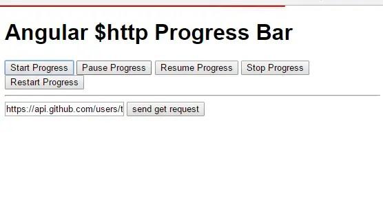 Youtube Like $http Progress Bar For Angular