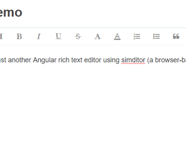 Angular Rich Text Editor With Simditor