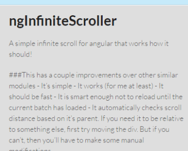 Smart Infinite Scroll For Angular