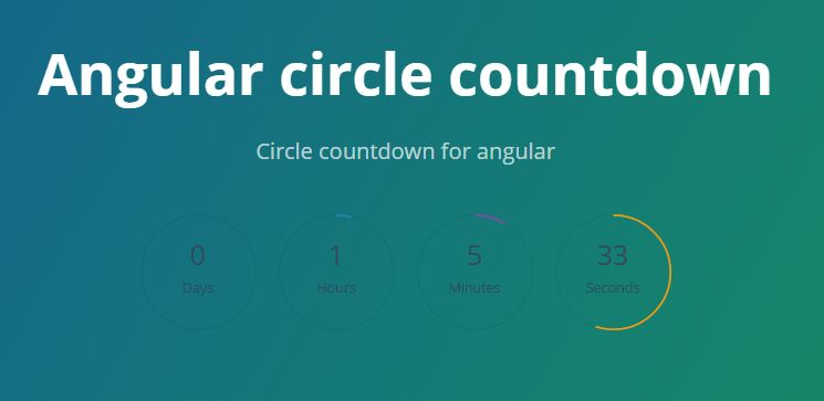 Angular Circle Countdown Directive | Angular Script