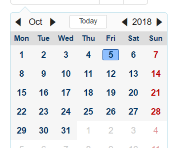 Angular Date Picker - ngx-mydatepicker