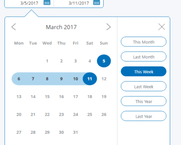 PayPal Style Date Picker For Angular