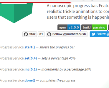 A Nanoscopic Progress Bar For Angular