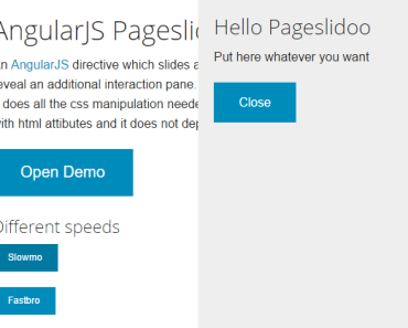 AngularJS Pageslide Directive