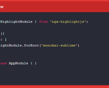 Angular Syntax Highlighting Module
