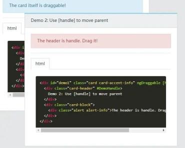 Angular 2+ Draggable Component