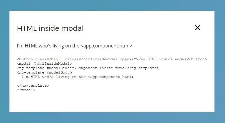 Angular 2+ Custom Modal Component