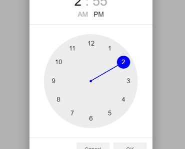 Amazing Time Picker For Angular Material 4+