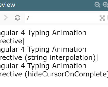 Typing Animation Directive For Angular 4+