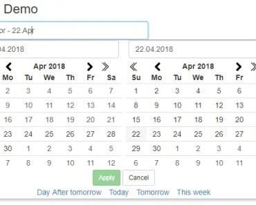 Angular 2+ Date Range Picker Component