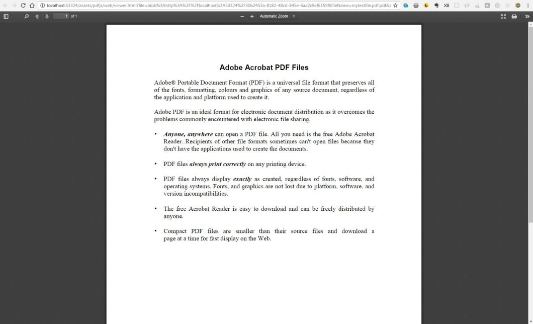 Angular 2+ PDF Viewer Based On pdf.js