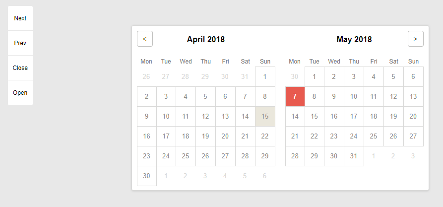 Animated Angular 2+ Datepicker