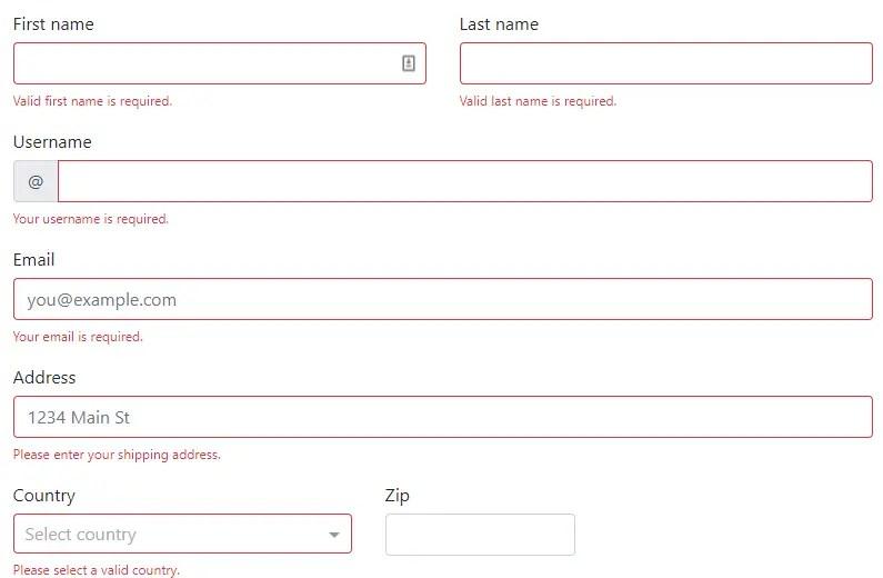 Native Angular 5+ Form Validators