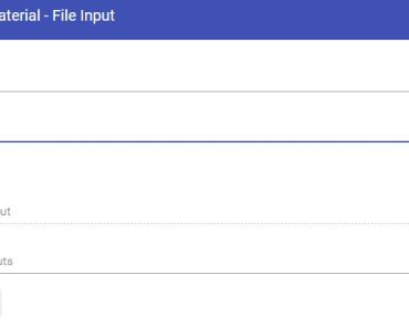Material Design File Input Library For Angular