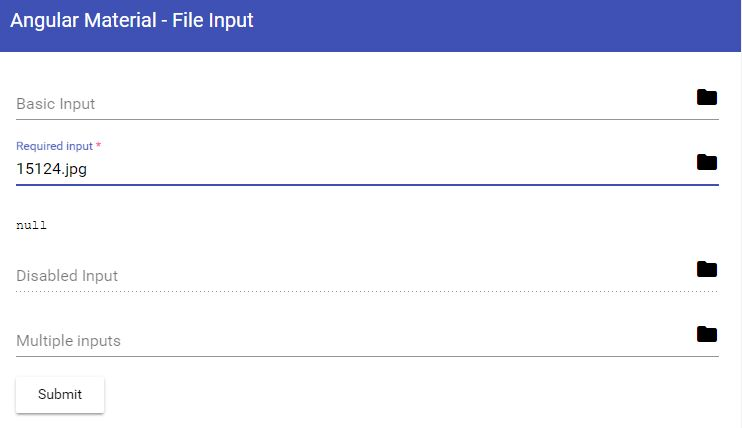 Material Design File Input Library For Angular | Angular Script