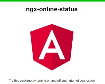 Detect Online Offline State In Angular - ngx-online-status