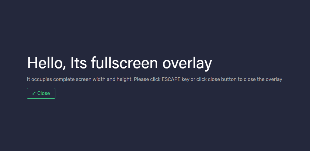 Multi-purpose Overlay Library for Angular 7+ - Toppy