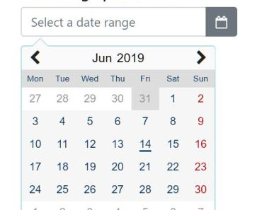 Pretty Datepicker And Date Range Picker - myDatepicker