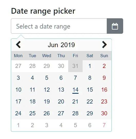 Pretty Datepicker And Date Range Picker - myDatepicker