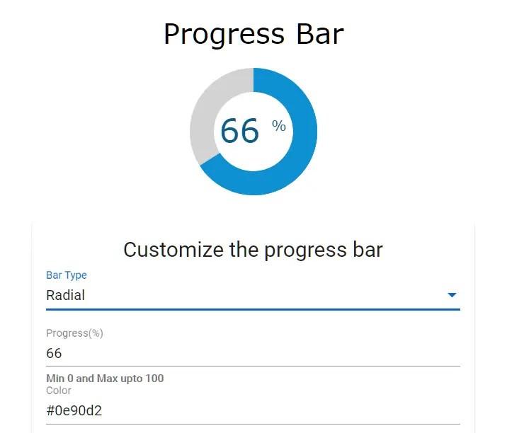 Radial Progress Bar