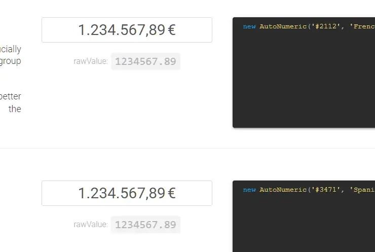 Format Input Values In Angular - Autonumeric
