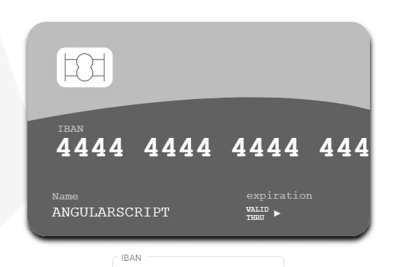 International Payment Card UI Library For Angular