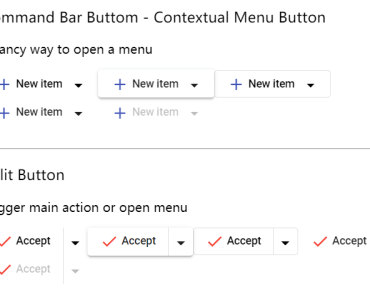 Microsoft Fluent Buttons for Angular Material