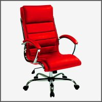 Red Leather Office Chair Executive