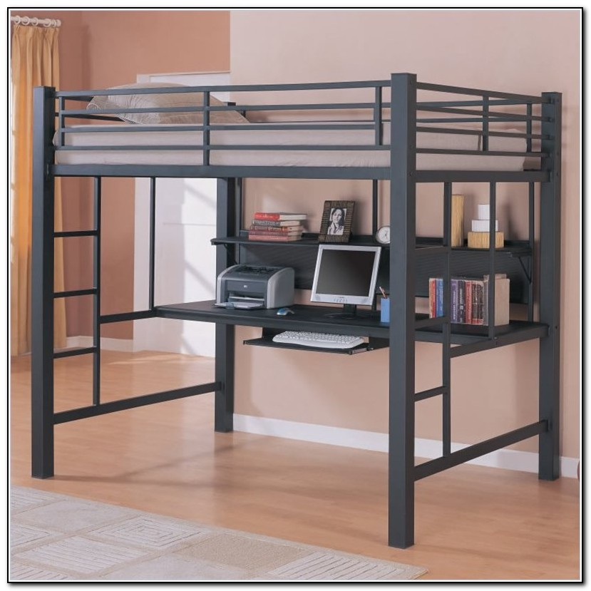 Full Size Loft Bed With Desk Ikea  Beds  Home Design