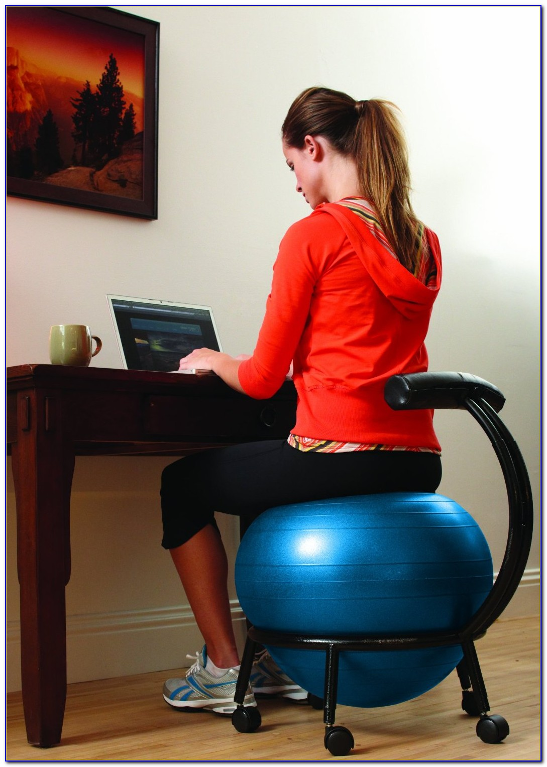 Ball Chair Benefits Yoga Ball Desk Chair Exercises Desk Home Design Ideas