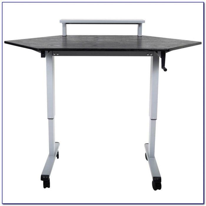 Stand Up Corner Computer Desk  Desk  Home Design Ideas