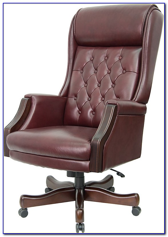 Tufted Leather Desk Chair  Desk  Home Design Ideas