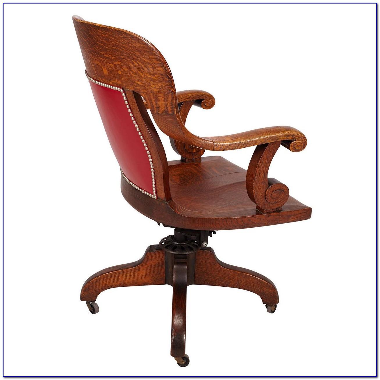 3e650aaf125e Wood Swivel Desk Chair Desk Home Design Ideas