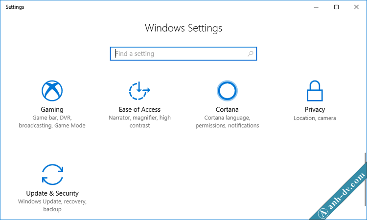 Windows Settings Windows 10